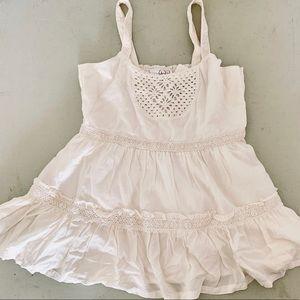 Matilda Jane Girls Ivory Crocheted Tank NWT SZ 12